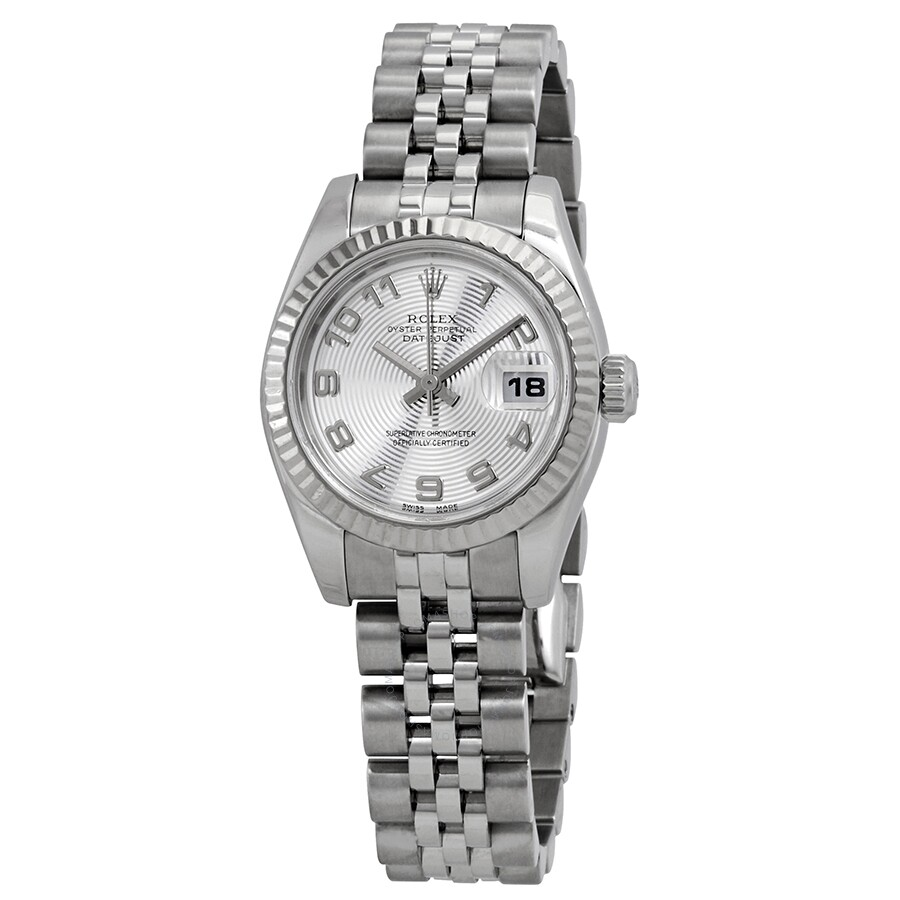 Pre-owned Rolex Lady Datejust 26 Silver Dial Stainless Steel Jubilee Bracele..