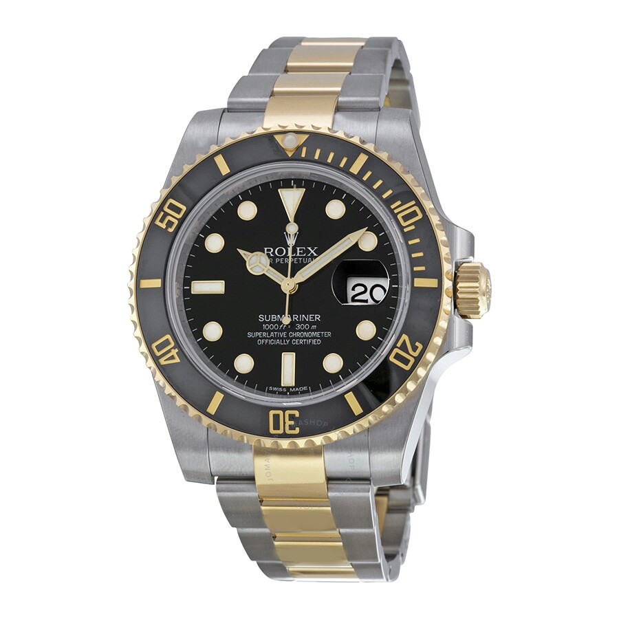 Pre-owned Rolex Oyster Perpetual Date Submariner Automatic Chronometer Black..