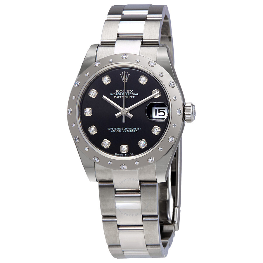 Pre-owned Rolex Oyster Perpetual Datejust 31 Black Dial Stainless Steel Brac..