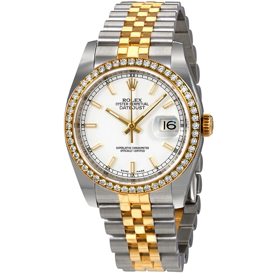 Pre-owned Rolex Oyster Perpetual Datejust 36 White Dial Stainless Steel and ..