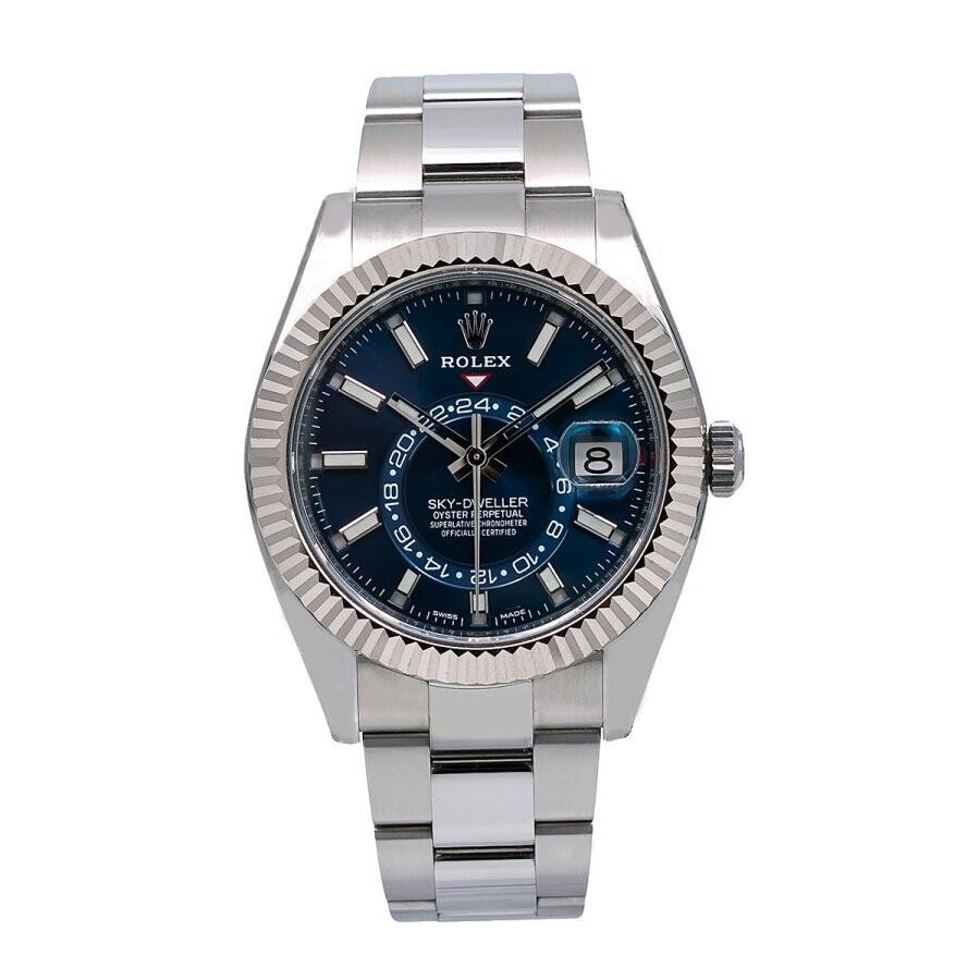 Pre-owned Rolex Sky-Dweller Automatic Chronometer Annual Calendar Blue Dial ..