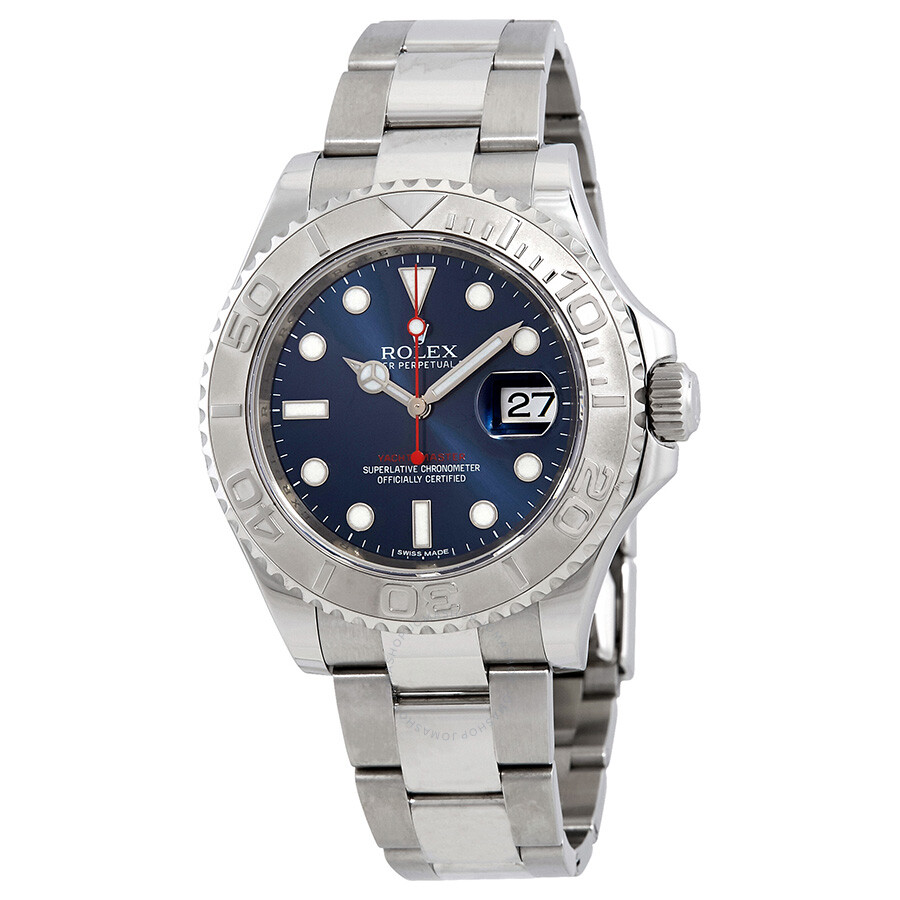 Pre-owned Rolex Yacht-Master 40 Automatic Blue Dial Stainless Steel Oyster B..