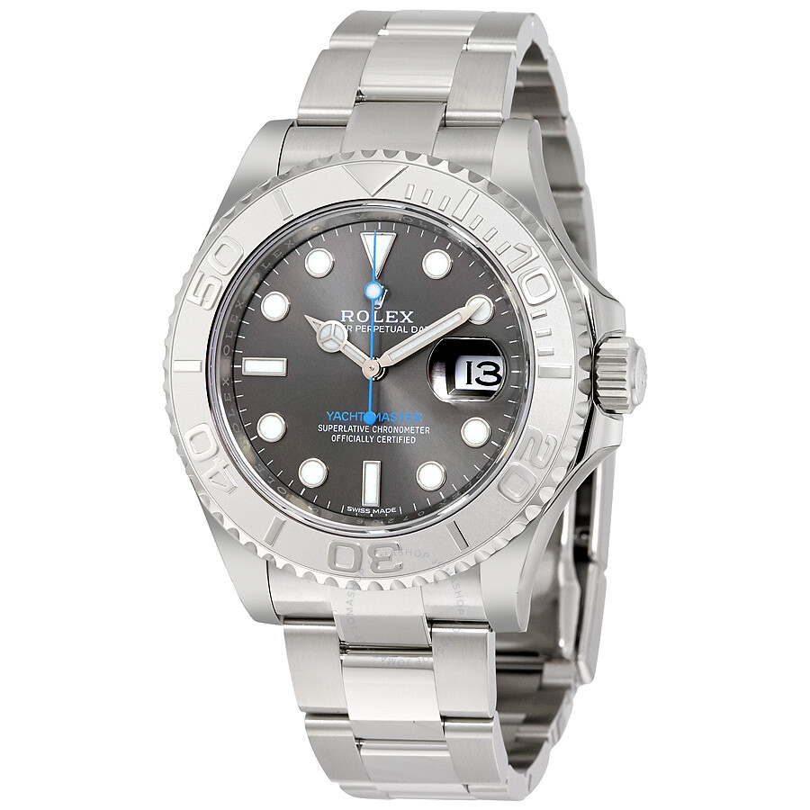 Pre-owned Rolex Yacht-Master 40 Dark Rhodium Dial Steel Oyster Mens Watch 11..