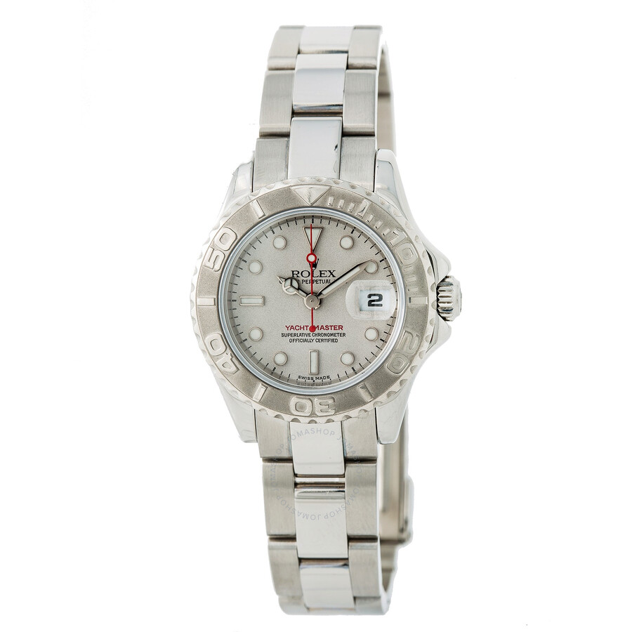 Pre-owned Rolex Yacht-Master Automatic Chronometer Grey Dial Ladies Watch 16..