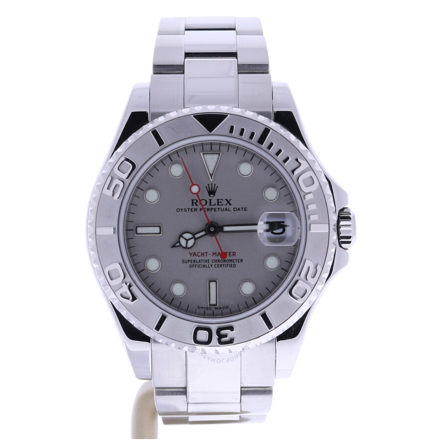 Pre-owned Rolex Yacht-Master Automatic Chronometer Grey Dial Mens Watch 1686..