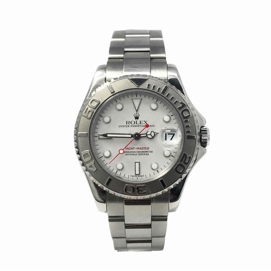 Pre-owned Rolex Yacht-Master Automatic Chronometer Silver Dial Ladies Watch ..
