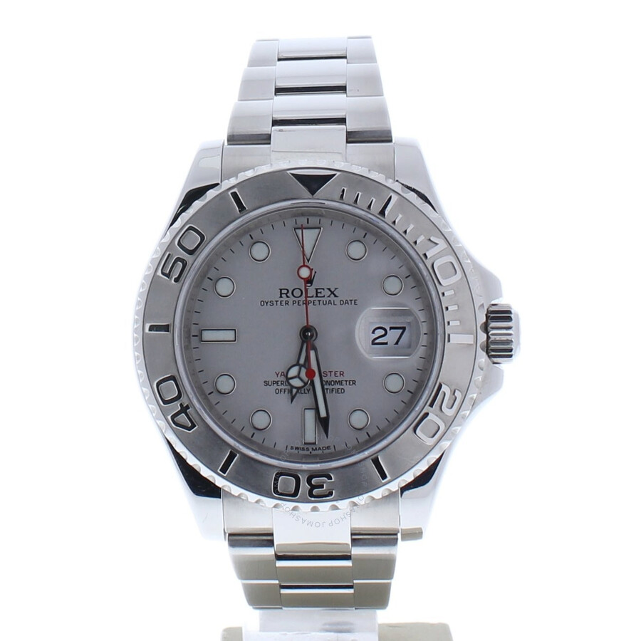 Pre-owned Rolex Yacht-Master Automatic Chronometer Silver Dial Mens Watch 11..