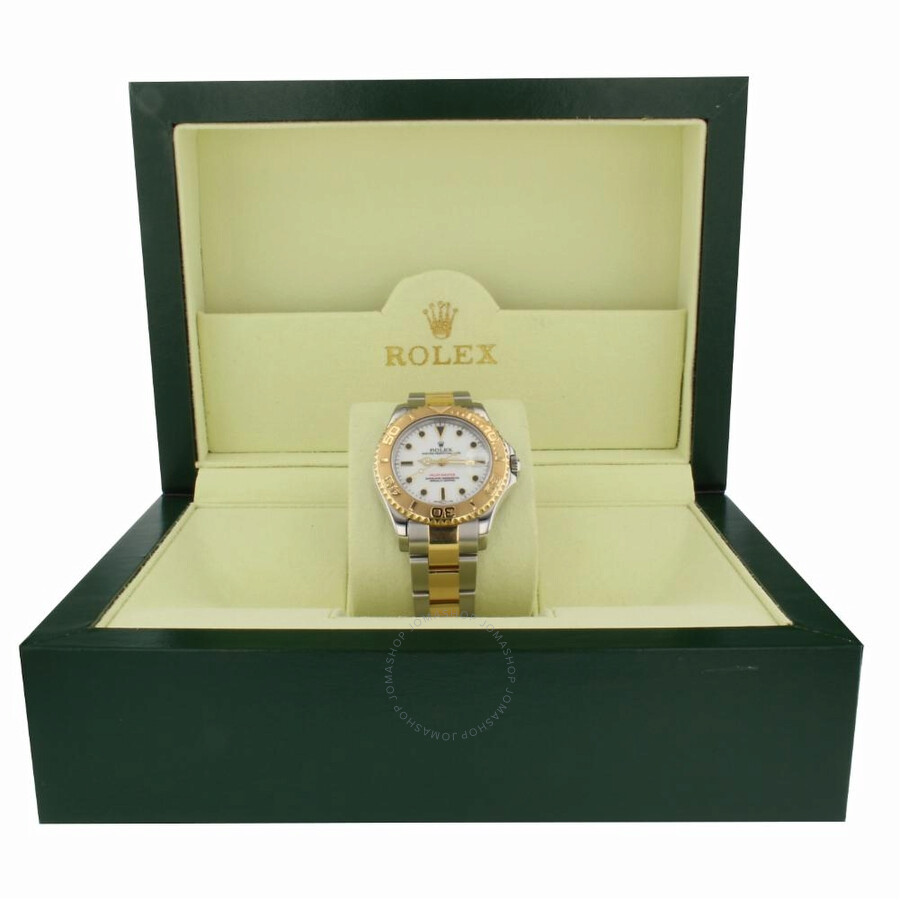 Pre-owned Rolex Yacht-Master Automatic Chronometer White Dial Mens Watch 686..