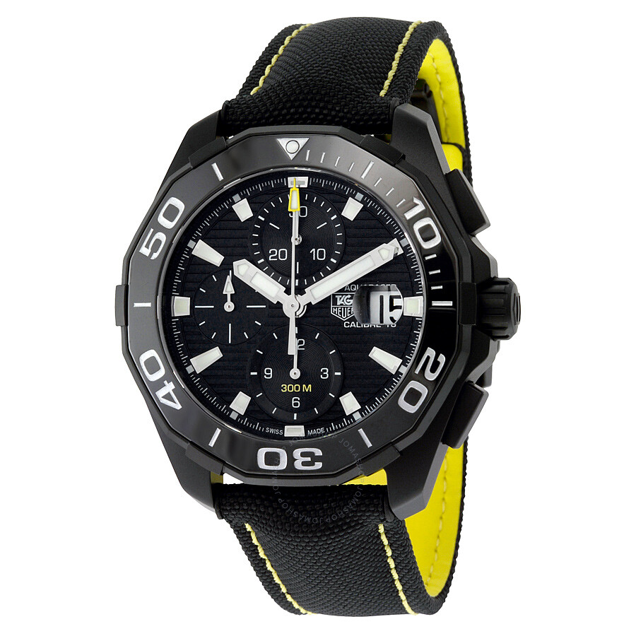 Pre owned tag heuer aquaracer black dial automatic men 39 s watch cay218a fc6361 tag heuer pre for Tag heuer automatic