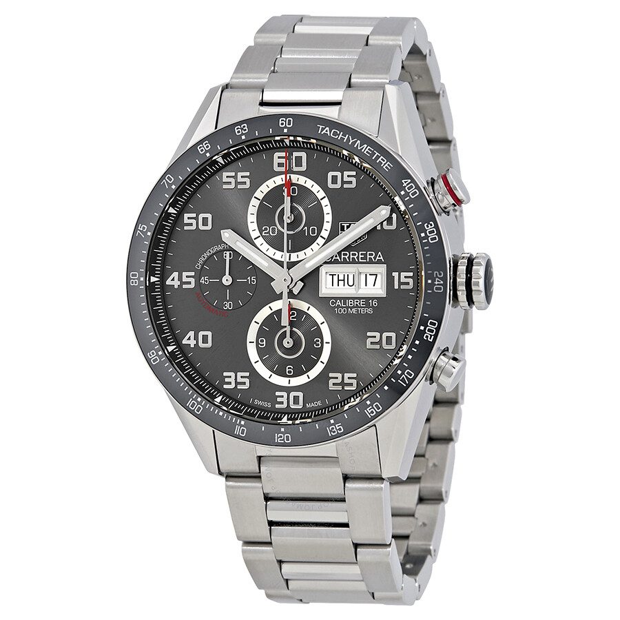 Pre-owned Tag Heuer Carrera Chronograph Automatic Mens Watch CV2A1U.BA0738