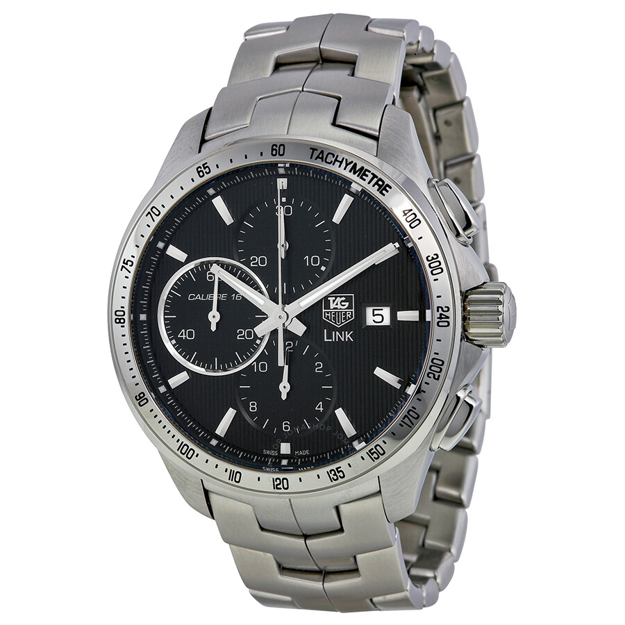 Pre owned tag heuer link automatic chronograph tachymeter automatic men 39 s watch tag heuer for Tag heuer d link