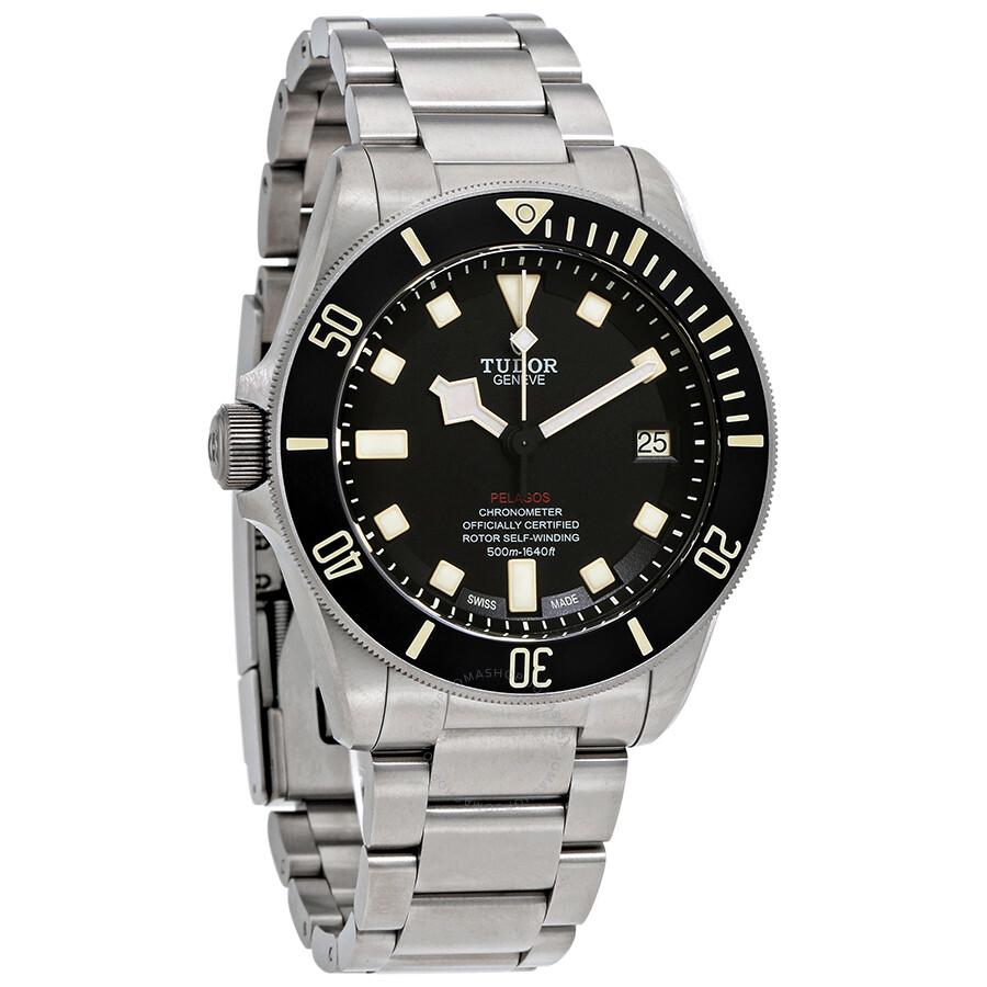 Pre-owned Tudor Pelagos LHD Automatic Black Dial Mens Watch 25610TNL-BKSTI