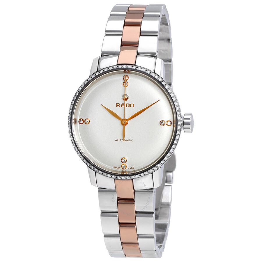 rado female rado coupole classic white dial diamond ladies watch r22875722
