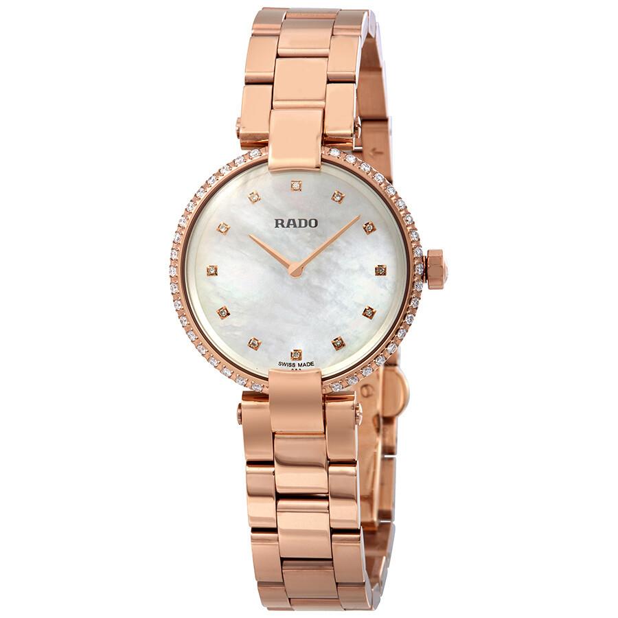 Rado Coupole White Mother of Pearl Diamond Dial Ladies Watch R22859924