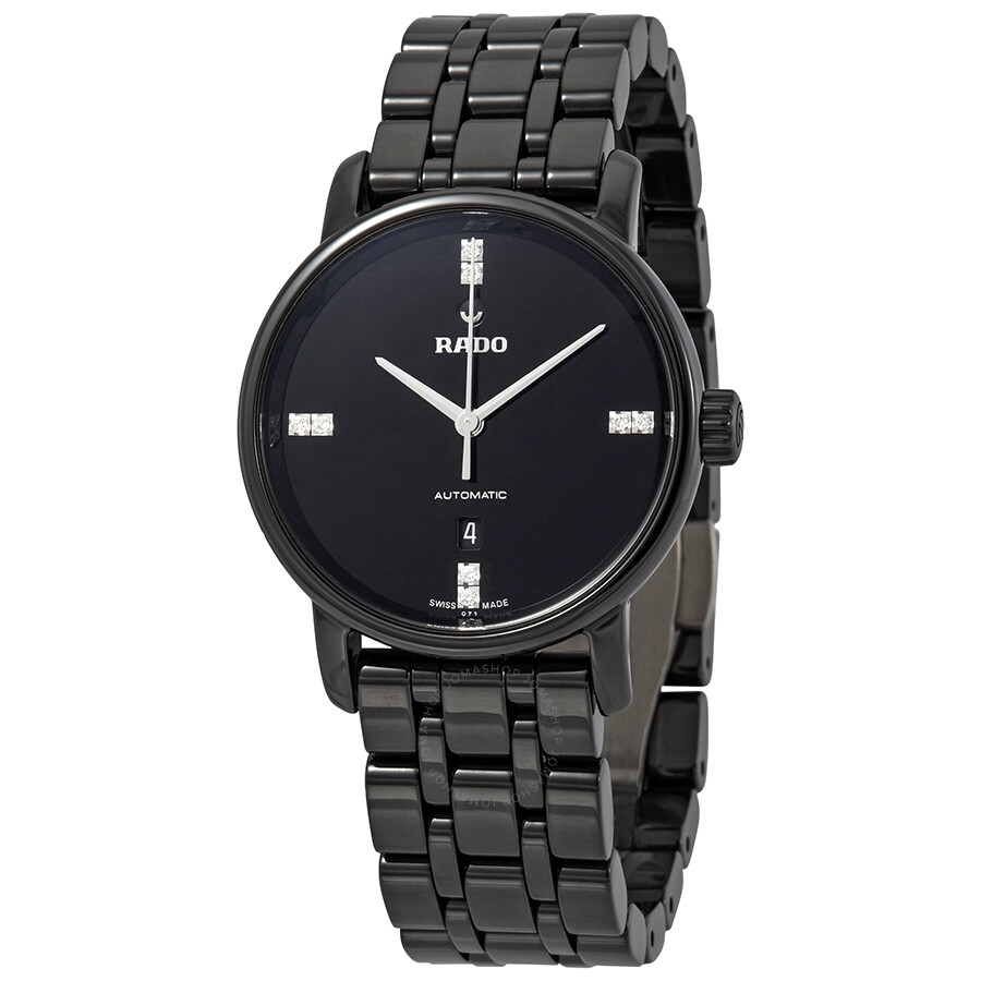 Rado DiaMaster Automatic Diamond Black Dial Ladies Watch R14043717