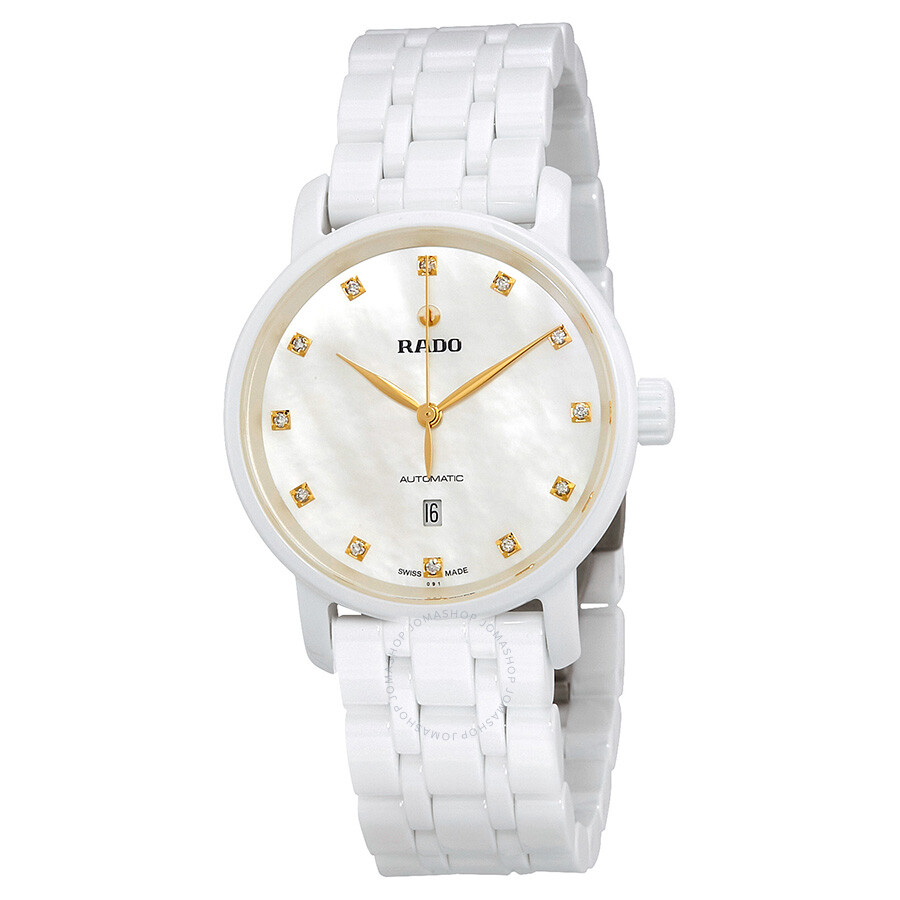 Rado DiaMaster Mother Of Pearl Dial Automatic Ladies Ceramic Watch R14044917