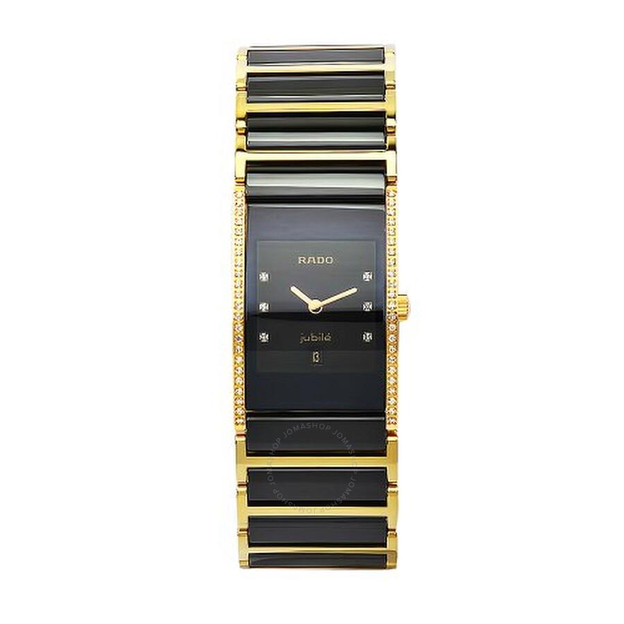 Rado Integral Quartz Black Dial Two-tones Ladies Watch R20752752
