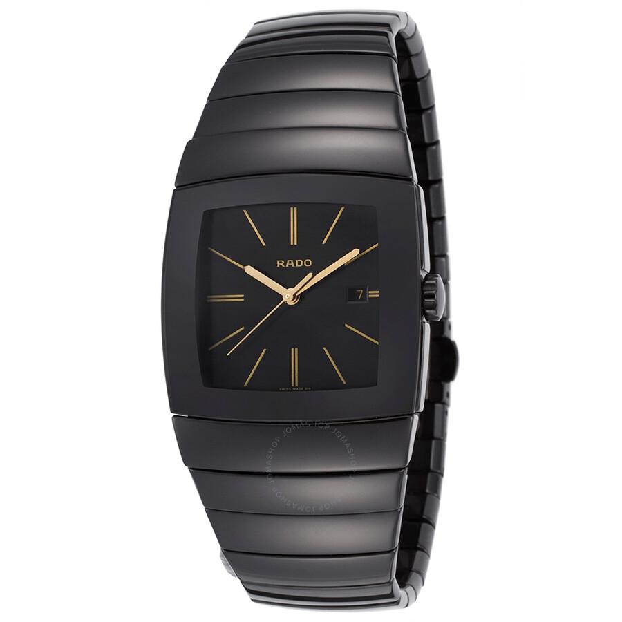 Rado Sintra Quartz Black Dial Black Ceramic Mens Watch R13724192