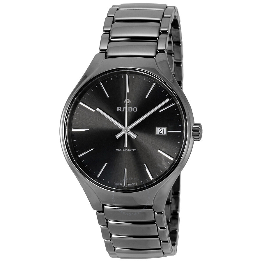Rado True Automatic Gray Dial Plasma High-Tech Ceramic Mens Watch R27057102
