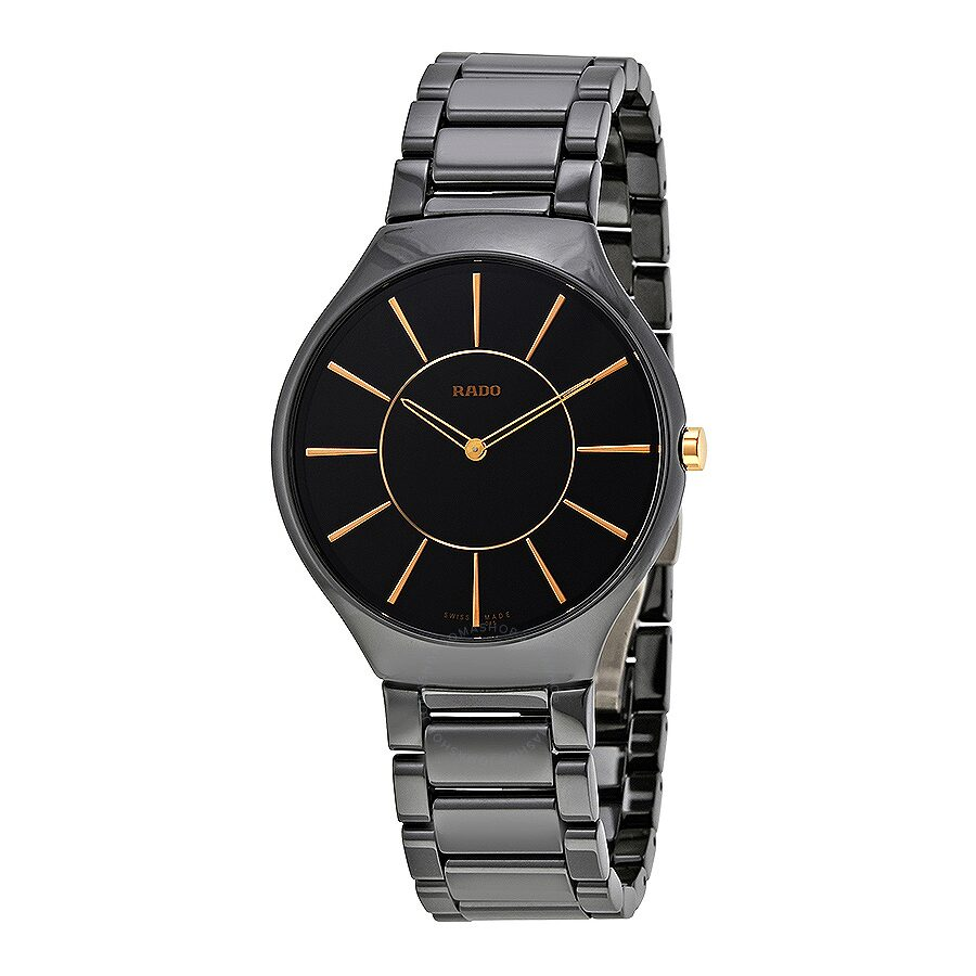 ceramic ladies rado true from image watches thinline black watch