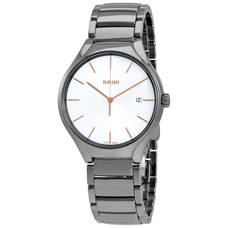 rado female rado true white dial ceramic ladies watch r27239102