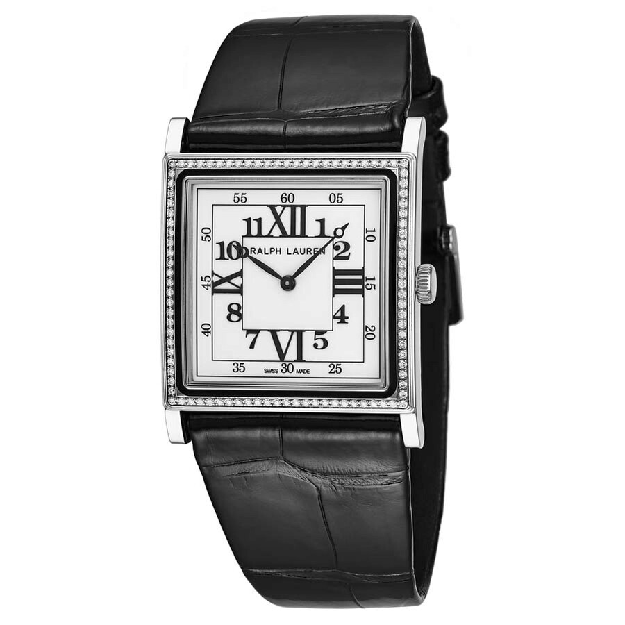 Ralph Lauren Slim Classique Automatic White Dial Ladies Diamond Watch RLR013..