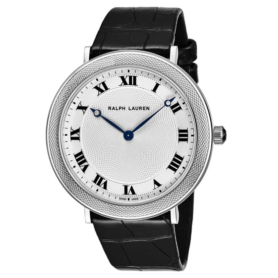 Ralph Lauren Slim Classique Silver Dial Mens Watch RLR0114700