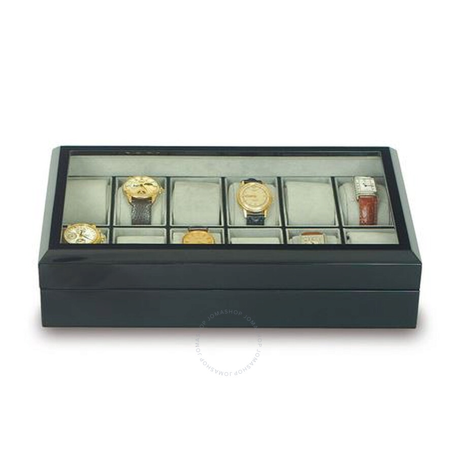 Rapport Ebony 12 Watch Collectors Case