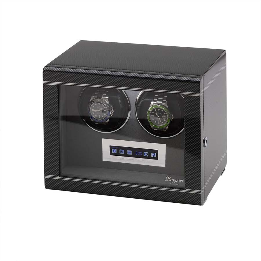 Rapport London Formula Carbon Double Watch Winder W562