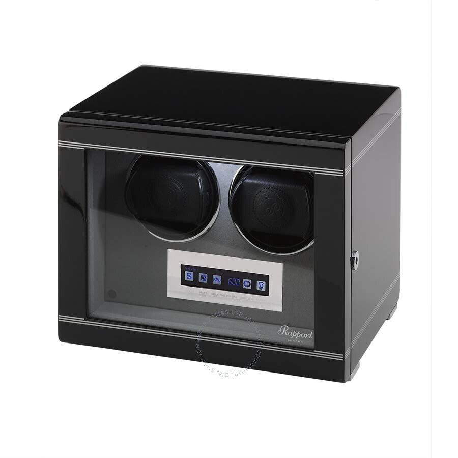 Rapport London Formula Ebony Double Watch Winder W552