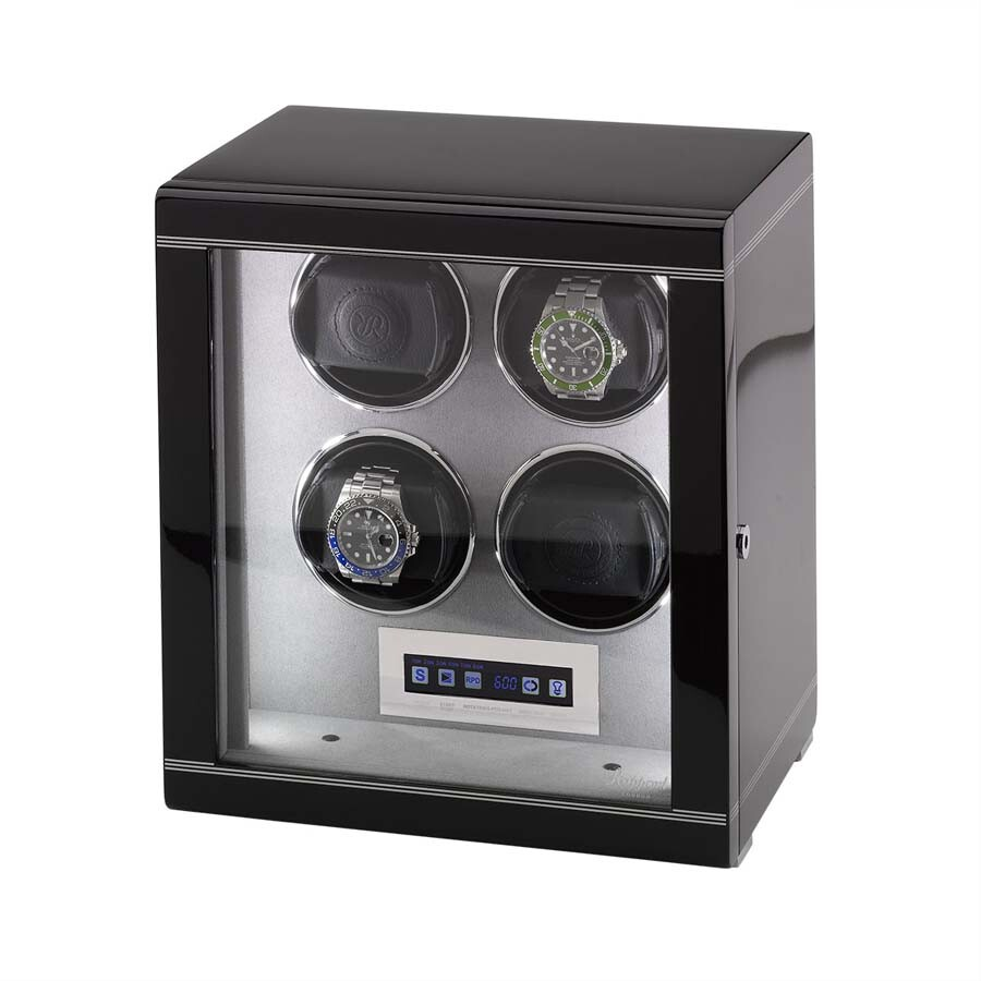 Rapport London Formula Ebony Quad Watch Winder W554