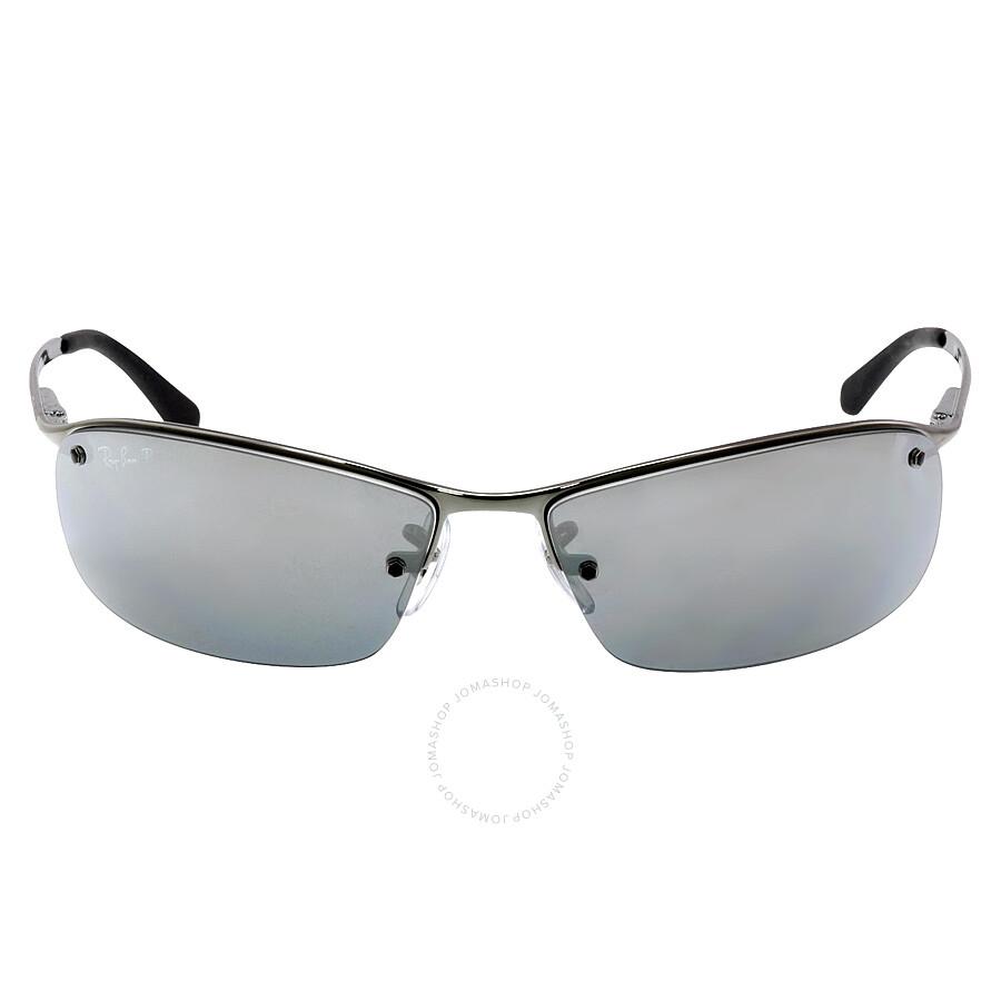 8c289cf4f33f2 inexpensive ray ban 63 mm sunglasses gunmetal polarized silver mirror 51265  f429f