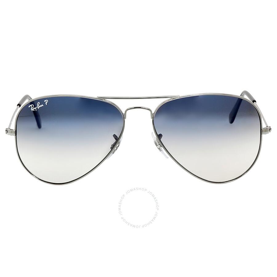 9c0f76ef92 ... canada ray ban aviator 58mm sunglasses polarized blue grey gradient  rb3025 004 78 58 38453 2bf61