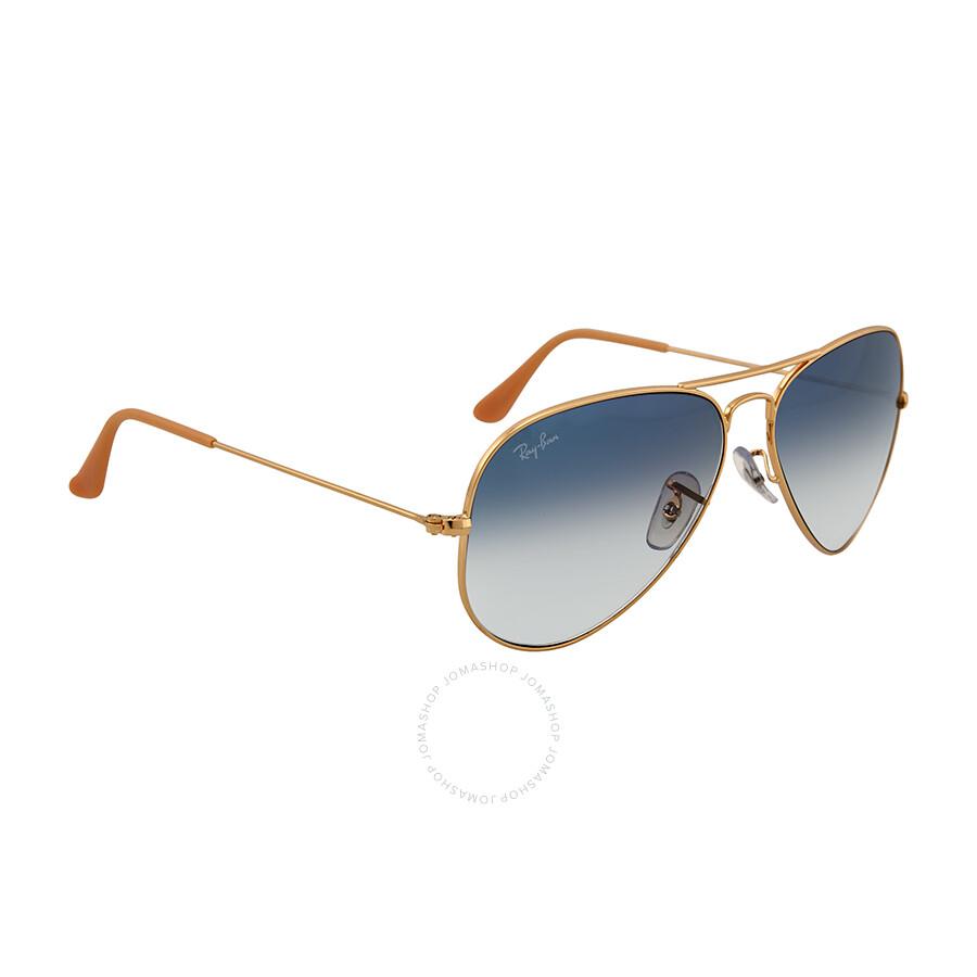 Ray Ban Aviator Arista Light Blue Gradient Lenses 58mm Sunglasses ...