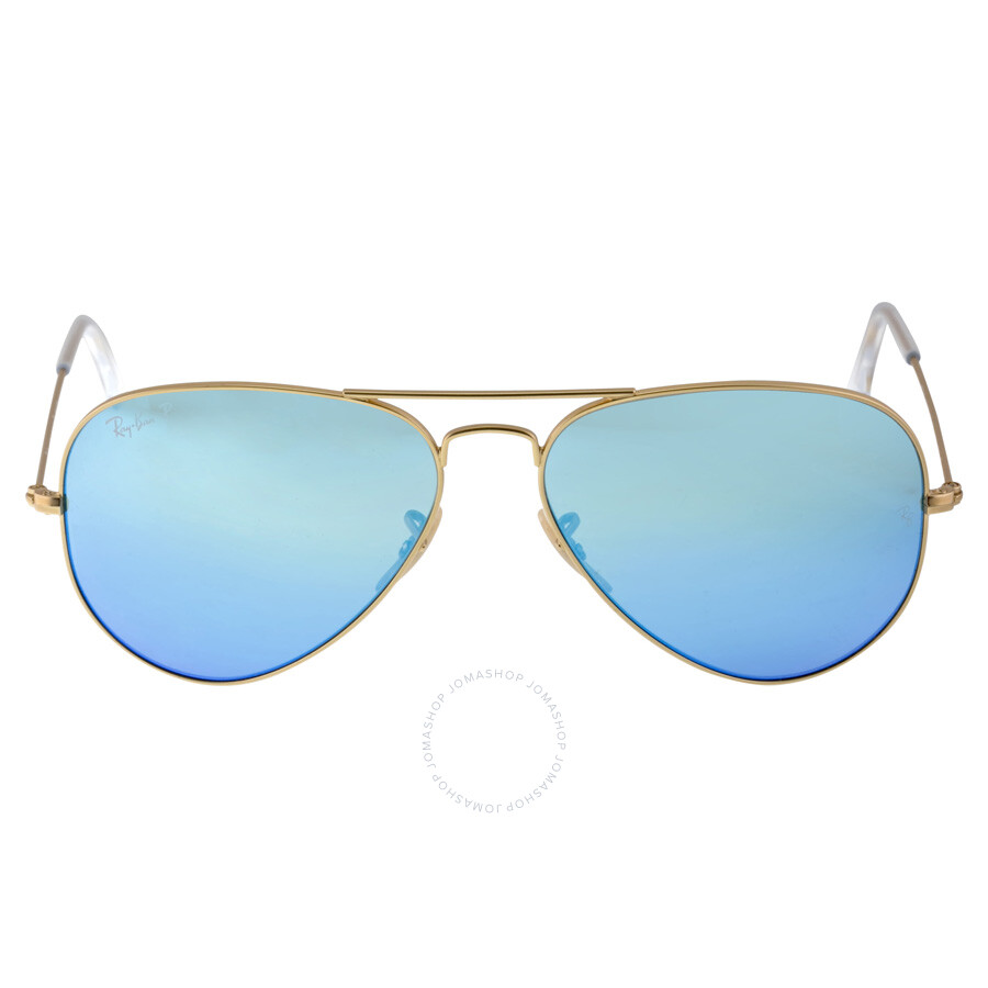 Ray-Ban Aviator Blue Flash Polarized Lens Sunglasses RB3025 112/4L ...