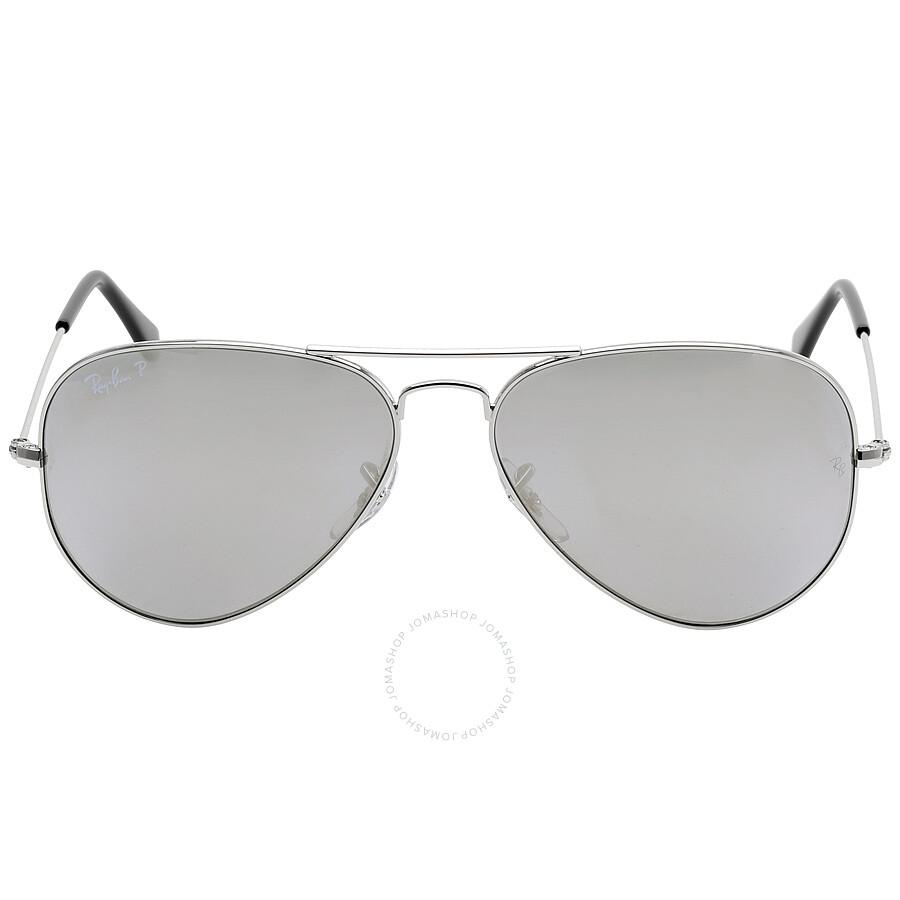ray ban ray ban aviator classic polarized light grey sunglasses rb3025003595814