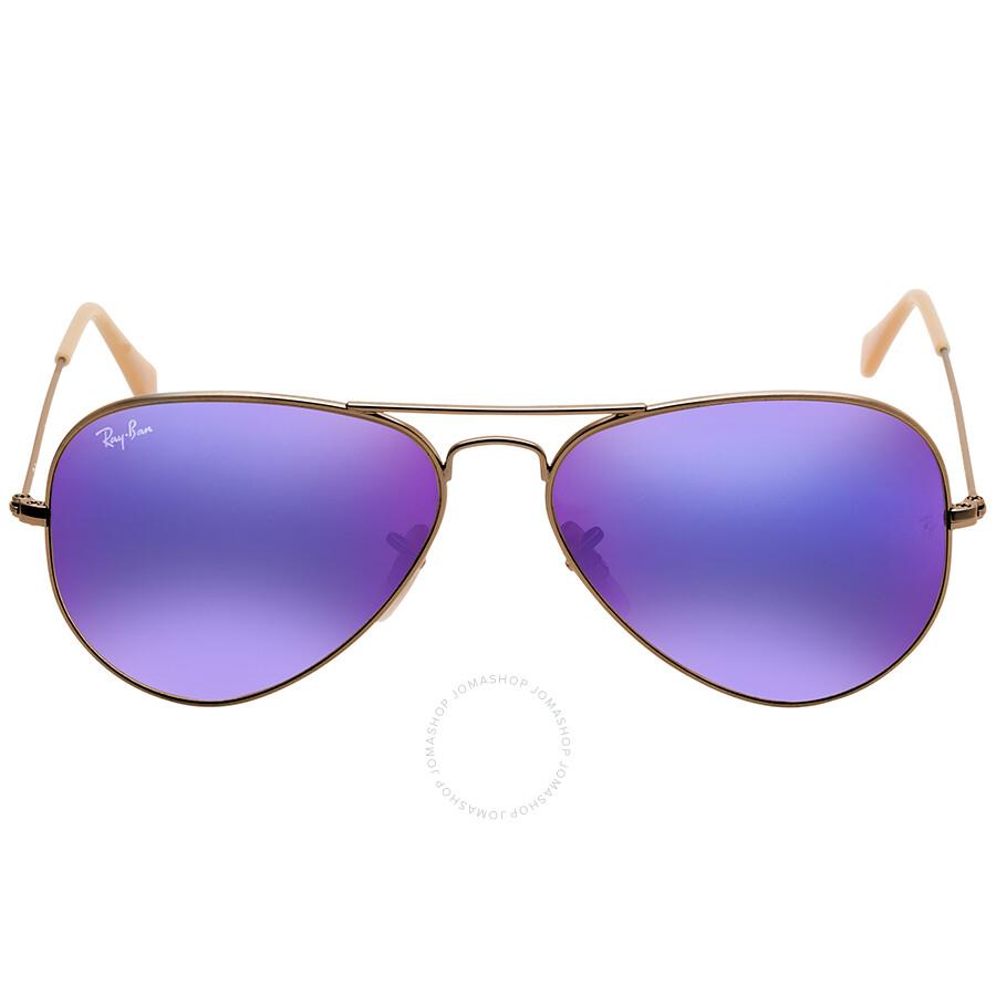 ray ban aviator violet
