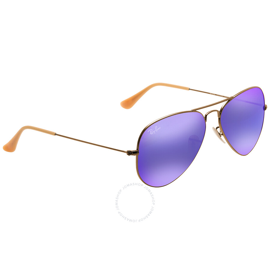 8b0446c1de6a0 ... sweden ray ban aviator flash lenses violet mirror mens sunglasses  rb3025 167 1m 58 c1ca2 39da3