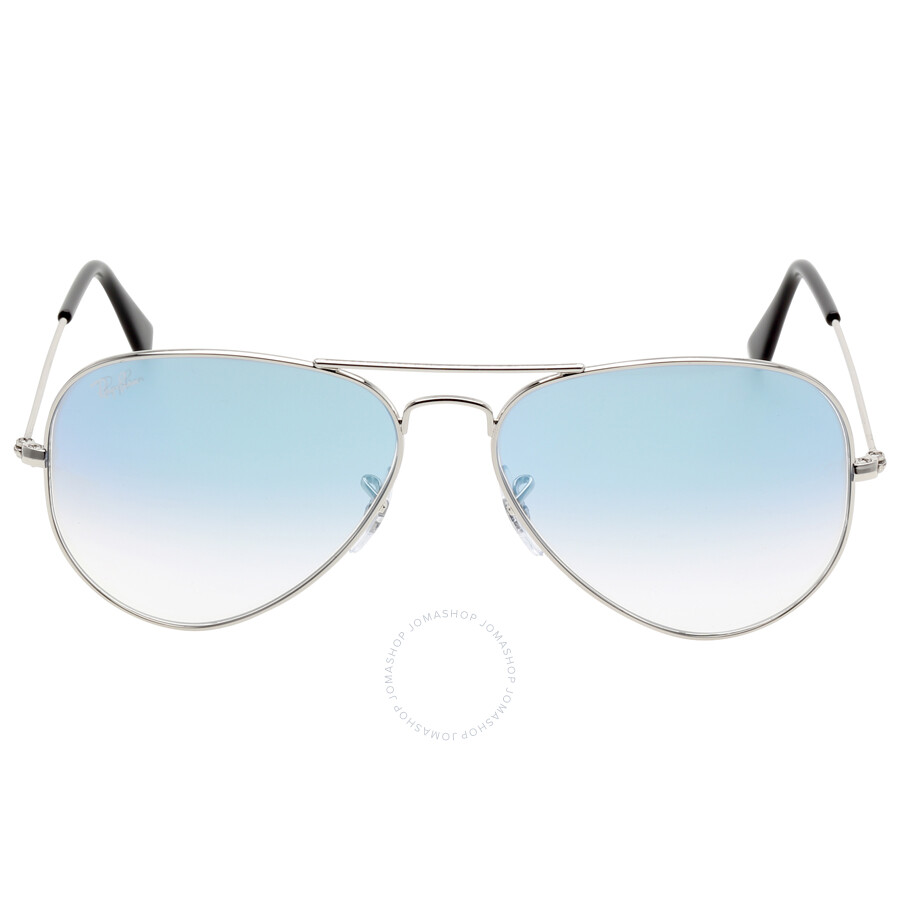 Ray Ban Aviator Gradient Light Blue Gradient Sunglasses Rb3025-0033F-5814  ...
