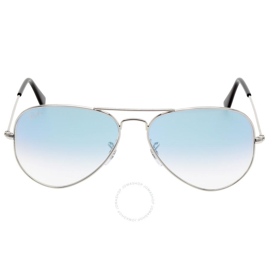 Ray-Ban Ray Ban Aviator Gradient Light Blue Gradient Sunglasses  Rb3025-0033F-5814 eb1b4eab60f