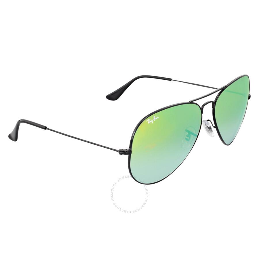 483b47239 Ray Ban Aviator Green Gradient Mirror Sunglasses RB3025 002/4J 62 .