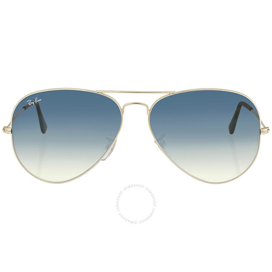 RB 3025 62 003/3F Rb 3025 Aviator Polarized Sunglasses 62, Silver Ray-Ban