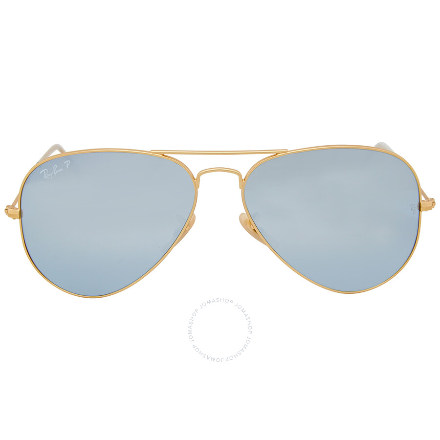 ray ban ray ban aviator polarized silver flash sunglasses rb3025 112w3 58