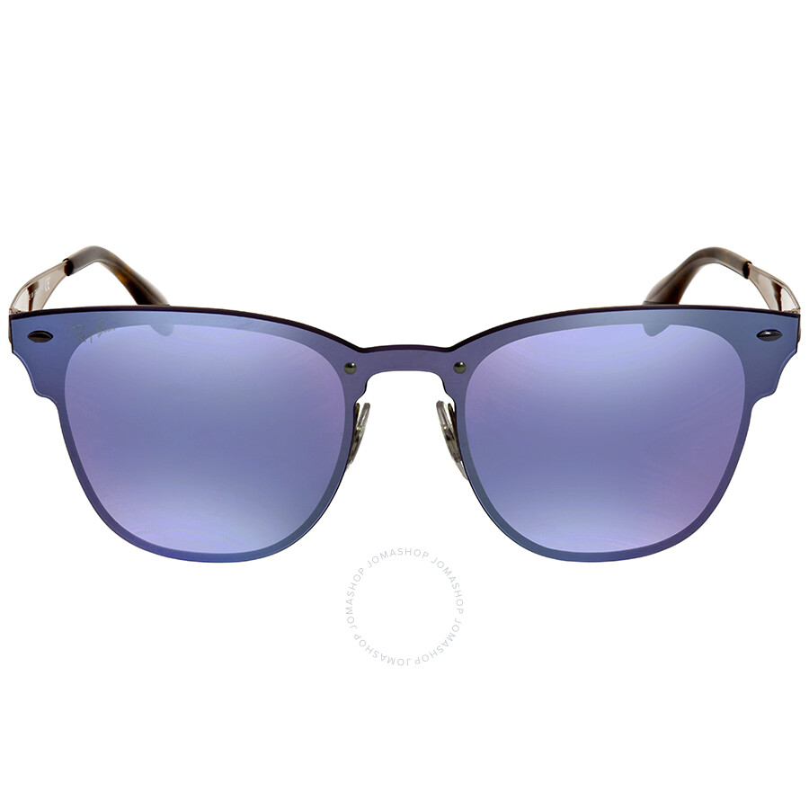 8939b4a8039 ... purchase ray ban blaze clubmaster violet mirror square sunglasses  rb3576n 90391u 41 ee6fe 175bd