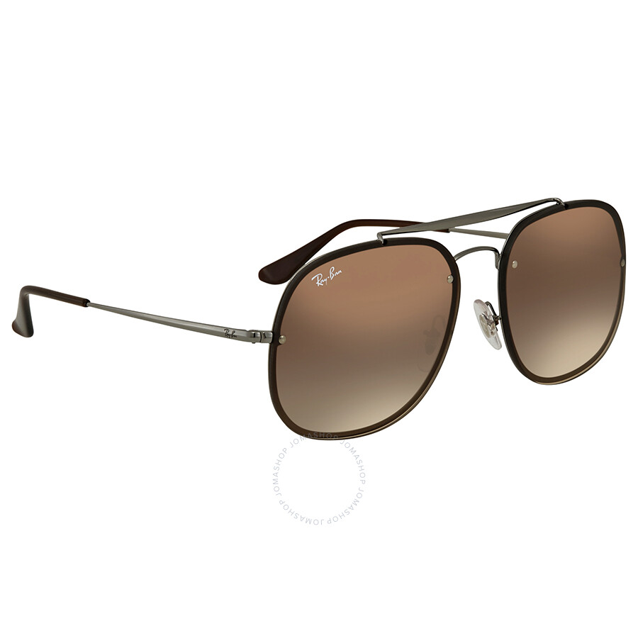Ray Ban Blaze General Brown Gradient Square Sunglasses