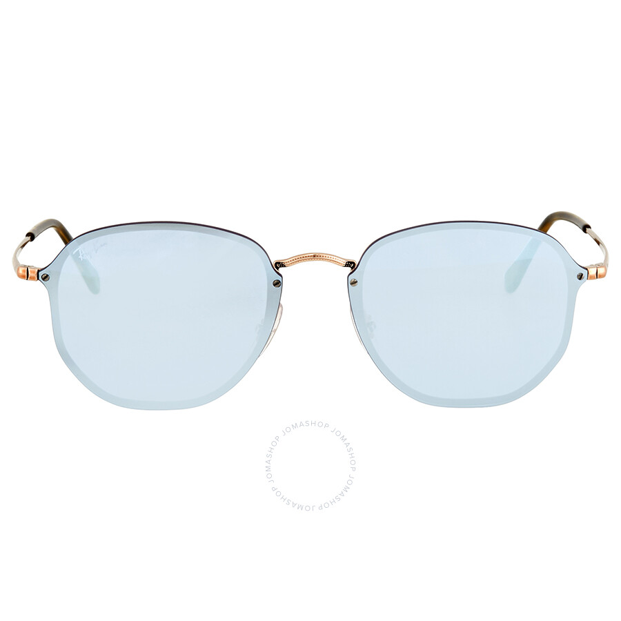 Ray Ban Blaze Violet Mirror Round Sunglasses RB3579N 90351U 58 . 256cde88a8