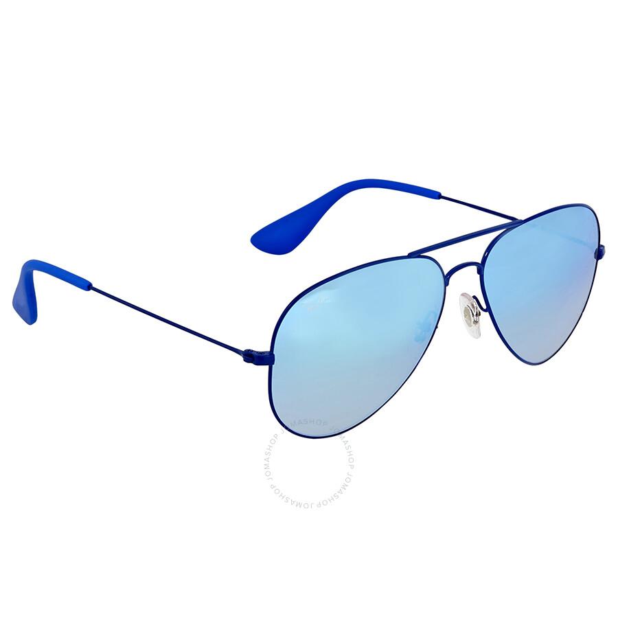 ray ban blue gradient flash aviator sunglasses