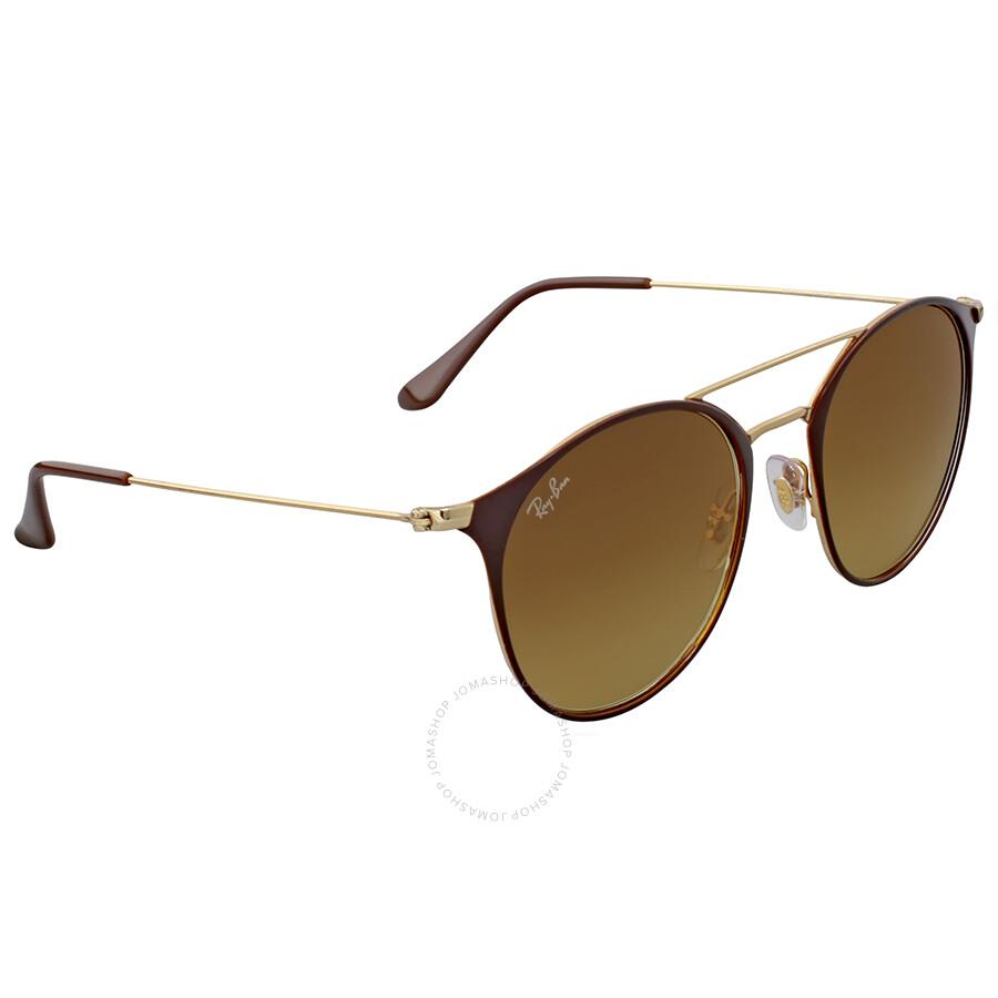 Ray Ban Brown Gradient Cat Eye Sunglasses - Ray-Ban - Sunglasses ...