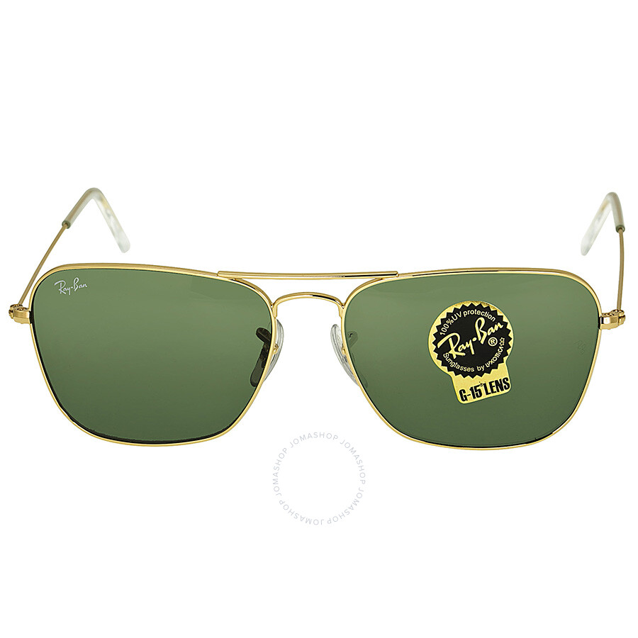 Ray-Ban Caravan Arista Frame Green Lens Sunglasses RB3136 001 58-15 ...