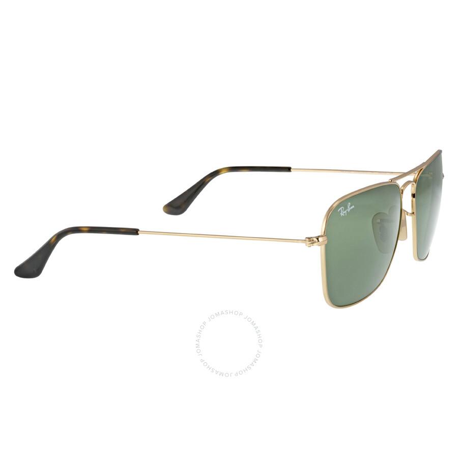 Ray Ban Caravan Green Classic G-15 Men\'s Sunglasses RB3136 181 58-15 ...